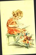 ENFANT écrivant Une Lettre - Other