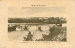 HAUTE GARONNE MONTREJEAU PONT SUR LA GARONNE ET VILLE EN HAUT  (scan Recto-verso) KEVREN0 - Montréjeau