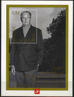 België LX93 - Luxevelletje - Feuillet De Luxe - Koning Albert II, 70 - Le Roi Albert II, 70 (BL113) - - Luxevelletjes