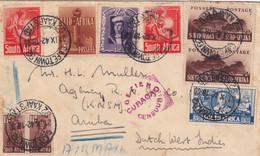 Air Mail Capetown 92, Curacao Censor, To Aruba 1942, Censor - Zonder Classificatie