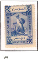 Ex Colonie Française * Maroc  Postes Locales *  94 N(*) - Poste Locali