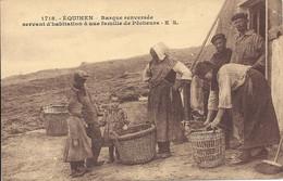 62.Environs De Boulogne Sur Mer -EQUIHEN - E.S 1718 - Barque Renversée Servant D'Habitation De Pêcheurs - Animation - Autres Communes