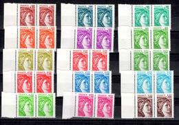 France Sabine YT N° 1965/1979 Variété Sans Phosphore Gomme Brillante En Paires Neufs ** MNH. Signés Calves.TB. A Saisir! - Varieties: 1980-89 Mint/hinged