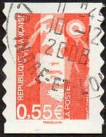 France Oblitération Cachet à Date N° 4295 Ou 233 Autoadhésif - Visage De La 5ème République. Marianne De Briat - Gebruikt