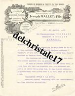 47 0012 VIANNE LOT-&-GARONNE 1936 Fabrique De Bouchons Topettes Bernard MALLET Succ. Dest. Éts Pharmaceutiques WEINMANN - 1900 – 1949
