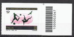 Italia / Italien 2020 Palermo Calcio Con Codice A Barre/ Fussballmannschaft Palermo Postfrisch Mit Strichkode - Bar-code