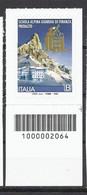 Italia / Italien 2020 Scuola Militare Di Predazzo Con Codice A Barre/ Militärschule Predazzo Postfrisch Mit Strichkode - Bar Codes