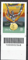 Italia / Italien 2020 Pietro Mennea Con Codice A Barre/ Postfrisch Mit Strichkode - Bar-code