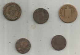 Monnaie ,  à Identifier , 2 Scans , LOT DE 5 MONNAIES - Lots & Kiloware - Coins