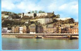 Namur-Bords De Meuse Etla Citadelle-Péniche-Péniches Le Long Du Quai - Namur