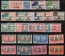Wallis Et Futuna - Sur Timb.de Nouvelle Caledonie - (1927) N° 40/65 - Unclassified