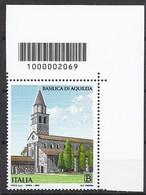 Italia / Italien 2020 Basilica Di Aquileia Con Codice A Barre/ Postfrisch Mit Strichkode - Bar Codes