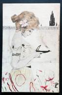 CARTE ILLUSTREE - FEMME 1900 - M.M.VIENNE - Unclassified