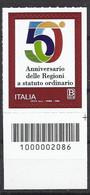 Italia / Italien 2020 Regioni Con Codice A Barre/ Regionen Postfrisch Mit Strichkode - Bar Codes