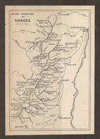 CARTE PLAN 1922 - SYSTEME OROGRAPHIQUE Des VOSGES - ROCHER Du DABO - GAZON De FAITE - HOHNECK - Carte Topografiche