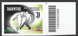 Italia / Italien 2020 Juventus Campione D'Italia Con Codice A Barre/ Postfrisch Mit Strichkode - Bar-code