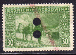 BOSNIA EZERGOVINA 1906 DONKEY POST 30h USED USATO OBLITERE' - Bosnie-Herzegovine