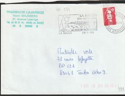 FLAMME TEMPORAIRE  44 LA BAULE - 1961-....