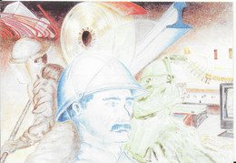 57 -GROUPE USINOR SACILOR EN LORRAINE - CARTE DESSINEE PAR ROBERT HECKEL - Other Municipalities