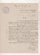 33 GIRONDE LANGON -  LETTRE AUTO-VELO LANGONNAIS SIEGE SOCIAL CAFE DU SPORT / COURSE CYCLISTE SAUBAT  - 1903 - Documenti Storici