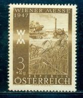1947 Harvesting Machine, Wheat, Agriculture, Austria, Mi. 803, MNH - Landbouw
