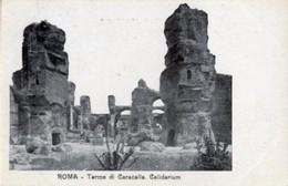 Roma - TERME DI CARACALLA, CALIDARIUM Antica Cartolina Postale Italiana (Carte Postale) - OTTIMA D14A - Health & Hospitals
