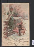 Ansichtskarte   Prosit Neujahr    Von 1904      Gebrauchsspuren - Sin Clasificación
