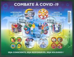 BRAZIL 2020 -  CORONAVÍRUS COVID-19 FIGHTING THE VIRUS - DISEASE - HEALTHCARE -  ILLNESS PREVENTION  - BLOCK OF 6 - MINT - Nuevos