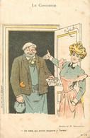 LE CONCIERGE PAR H.GERBAULT UN BEBE QUI ARRIVE TOUJOURS A TERME PUBLICITE CONSOMATION CHAMBORD - Otros Ilustradores