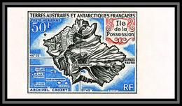 90005a Taaf Terres Australes Airmail PA N°23 Ile Possession Non Dentelé ** MNH Imperf - Geschnitten, Drukprobe Und Abarten