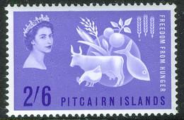 PITCAIRN ISLAND 1963 Freedom From Hunger 2s6d SG 32 MNH Unmounted Min - Islas De Pitcairn