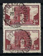 FRANCE 1929: Paire Du Y&T 258, Obl. CAD - Usati