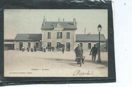 16-COGNAC-Une Vue Animée De L' Extérieur De LA GARE  En 1900 - Cognac