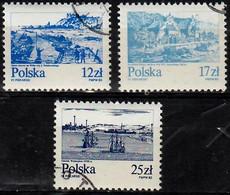 1982 Orte An Der Wisla Mi 2833-5 / Fi  2685-7 / Sc 2461-6 /  YT 2651-3 Gestempelt / Oblitéré / Used - Usados