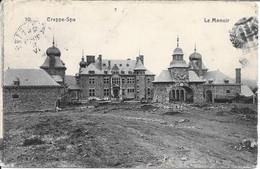 SPA - CREPPE - Le Manoir - Oblitération De 1914 - Carte Défraîchie - Spa