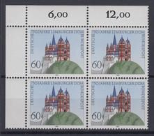 Bund 1250 Eckrand Links Oben 4er Block 750 Jahre Limburger Dom 60 Pf Postfrisch - Ohne Zuordnung