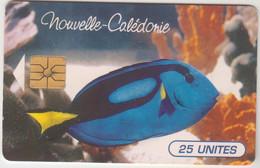 NEW CALEDONIA - Paracanthurus Hepatus (Fish), With Control Number ,11/95, 25U, Tirage 100.000, Used - Neukaledonien
