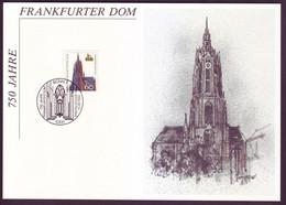 Bund 1434 Sonderblatt 750 Jahre Frankfurter Dom 1989 Mit ESST  - Briefe U. Dokumente