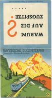 Deutschland - Bayerische Zugspitzbahn - Sommer Fahrplan 1936 - Faltblatt 8cm X 16cm - Europe