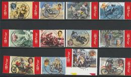 3334/3345 Motosport Oblit/gestp Centrale - Used Stamps