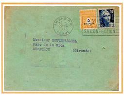 France Arc De Triomphe Et Gandon N° 709 Et 726 Y. Et T. Empreinte Sécap Amiens Somme Du 22/04/1953 - 1921-1960: Période Moderne