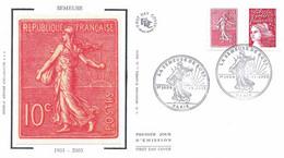 Enveloppe 1er Jour Semeuse De Roty 2003 (YT P3619) - 2000-2009