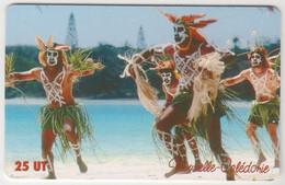NEW CALEDONIA - Danseurs De Wapan - Ile Des Pins, GEM1A (Symmetric Red), 25U, Tirage 100.000, Used - Neukaledonien
