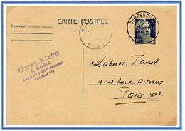 France Gandon Entier N° 719B CP1 Y. Et T.cachet A6 Sarrebourg Moselle Du 24/06/1948 - 1921-1960: Période Moderne