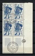 FRANCE 1950:  Bloc De 4 CDF  Du Y&T 863, Obl. CAD - Oblitérés