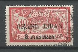 Timbre  De Colonie Française Grand Liban Oblitéré N 10 - Usati