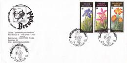B01-220 2357 2358 2359 FDC 1er Jour Floralies Gantoises VIII 3-3-1990 1730 Zellik €3 - 1981-90