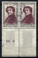 FRANCE 1951:  Paire BDF Du Y&T 892, Obl. CAD - Oblitérés