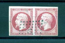 FRANCE 1853/1860-  N° 17 OBLITERATION ANCRE LA PAIRE - 1853-1860 Napoléon III