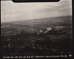Photo Aerienne D'indochine Zone De Guerre Aviation - War, Military